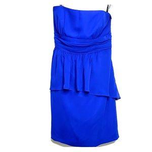 ALFRED ANGELO • Royal Blue Strapless Dressy Dress